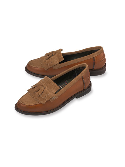 Country-Loafer 'Olivia' in Cognac von Barbour